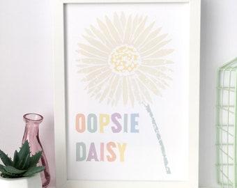 Daisy Print A4