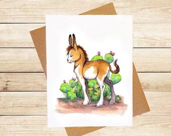 Donkey Card Cute Animal Card