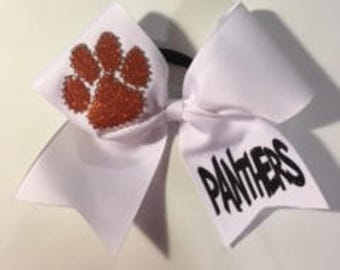 Glitter paw print outlined in stones personalized with your choice of name..available in any colors