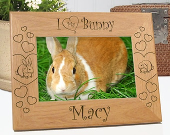 FREE SHIPPING - I Love My Bunny Picture Frame