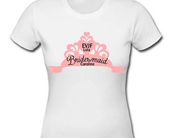 Princess Crown personalized bachelorette party Bachelorette girl t-shirt