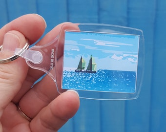 Two yachts keyring