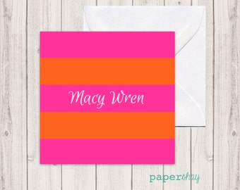 Enclosure Gift Cards, Gift Tags, Stickers, Personalized Gift Enclosure Cards, Monogrammed Stationery Note Cards, Greeting Cards