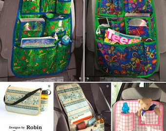 Sewing Pattern for Car Organizers, Behind Car Seat Organizers, Simplicity 2916, Carry Organizer, Robin Greenwood Designs