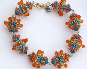 Dahlia Beaded Bead Bracelet Tutorial