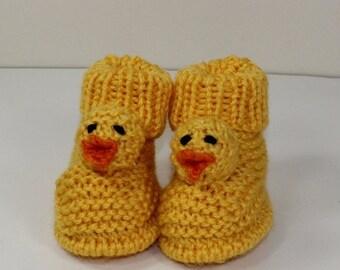HALF PRICE SALE Instant Digital File pdf download knitting pattern - Toddler Chick Boots knitting pattern