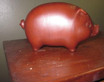 Ceramic Brown Piggy Bank