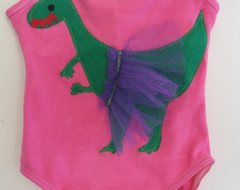 LEOTARD DANCING DINO - Size 12/18 months, 2/4 years. 4/6 years or 6/8 years up to Adult Sizes