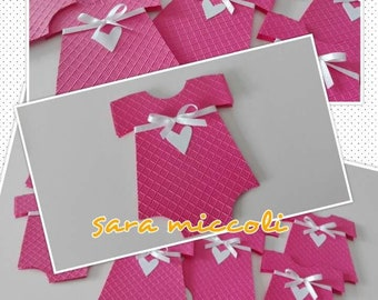 15 first birthday swimsuits with embossing-baby die cut-party card