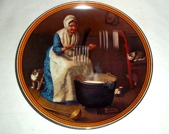 Knowles Norman Rockwell Collectors' Plate Light for the Winter / Rockwell's Colonials / Limited and Numbered