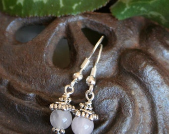 Fertility Earrings and  Blessing -  in Rose Quartz
