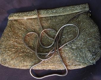 Vintage Gold Color Beaded Purse Carla Marchi