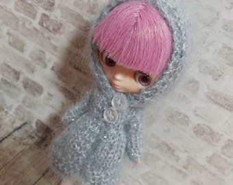pdf knitting pattern - Petite Blythe hooded coat.