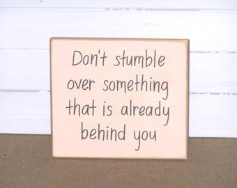 Encouraging Verse, Inspirational Work Plaque, CoWorker Gift, Don't Stumble Quote, Wood Sign Home Office Decor, Cottage Rustic, Wall Hanging