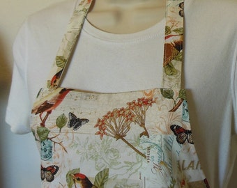 Full Apron - Song Birds and Butterflies