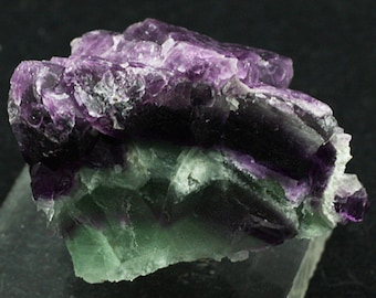 Green and Purple Banded Fluorite, New Mexico - Mineral Specimen for Sale