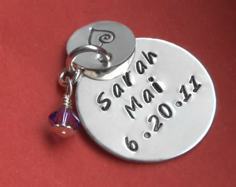 Custom Charm, Personalized Charm, Custom Jewelry, Sterling Silver Charm, New Baby, Gift for Mom, Baby Name, Name Charm Custom Name Gift