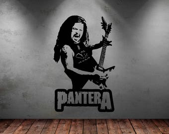Large Pantera Dimebag Darrell Wall Art Decal Mural Sticker Bedroom Living Lounge Kitchen