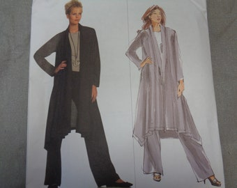 Issey Miyake for Vogue | loose-fitting shawl collar jacket & pants | Misses L XL XXL | Vogue 1022 | OOP uncut factory folded sewing pattern