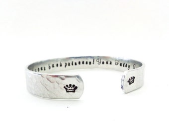Personalized Goddaughter Godmother Cuff Bracelet Gift, Ive got your back Princess, Your Fairy Godmother, Customizable. super cute.