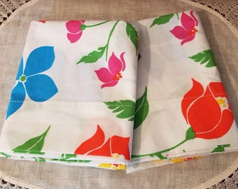 Vintage, Floral  Pillowcases. Royal Family, Canon made in USA
