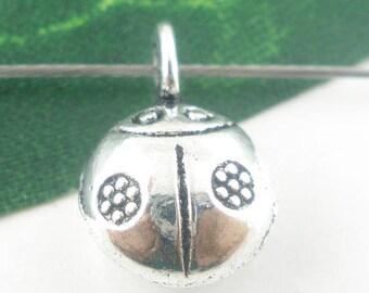 Ladybug charm 14 x 9mm pendant