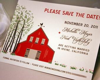 Barn Wedding Save the Date Card