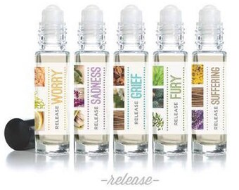 """Affirmation Rollerball Essential Oil Blends - """"Release"""" Mood Series (10ml)"""