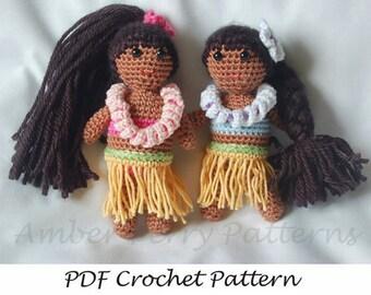 PDF Pattern - Easy Crochet Hula Dolls