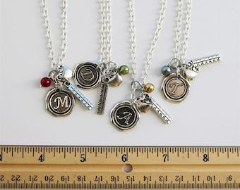 Wax Seal Initial Teacher Necklace