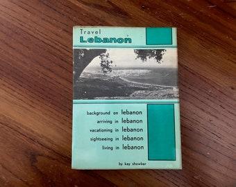 Vintage Lebanon Travel Guide - Vintage Lebanon Maps Beirut - Vintage Travel Guide Middle East - Vintage Airline Travel Book - 1960s Lebanon