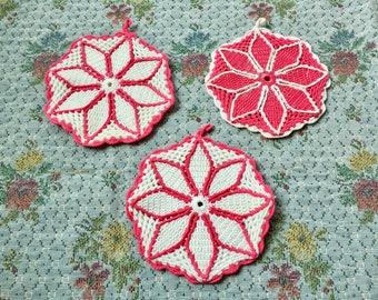 Doilies Lot Doily Crochet Doilies Pink Doilies for Wedding Doilies Doiley Trivet Hot Pads Doilies Pink Decor Pink Kitchen Decor Hot Pink