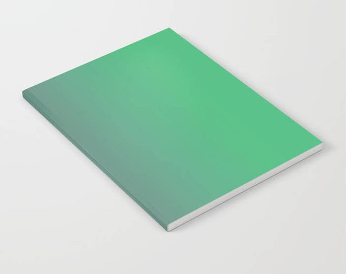Green Notebook - Ombre Green to Gray - Blank Book - Lined - Unlined - Made to Order