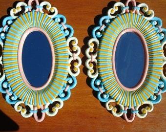 Mirror, Mirror, hand painted, feminine and unique, girl's bedroom decor, girl's bedroom mirror