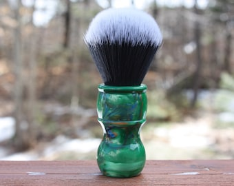 24mm Tuxedo w/ Elegant Emerald Handle Handle - APShaveCo.