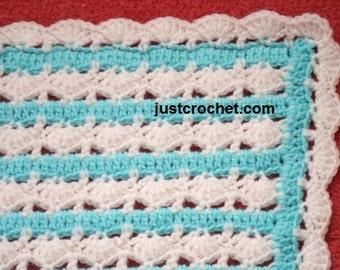 2 Crib Blankets Baby Crochet Pattern (DOWNLOAD) 25