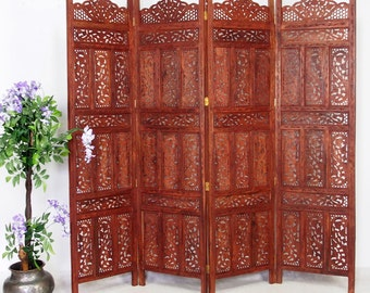 orient vintage wooden Screen room divider partition double-sided   No:9190
