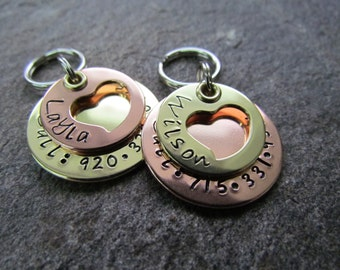 handmade dog tag - Personalized Pet ID Tag - Dog Collar Tag - Pet ID Tag - Pet Tag - Pet Tags - Pet Accessories - Engraved Pet Tag - Custom