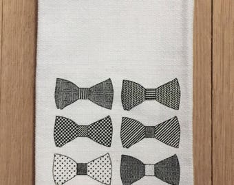 Derby Bow Ties Tea Towel