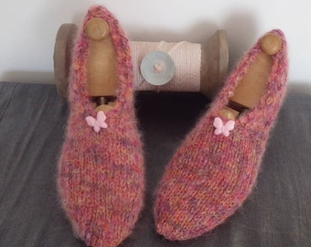 Adult slippers women 36/38 gorgeous wool and kid mohair