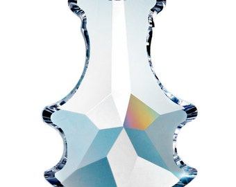 "ONE Clear Asfour Lead Crystal Chandelier Prisms 89mm 3.5"" Pendalogue Pendants #921"