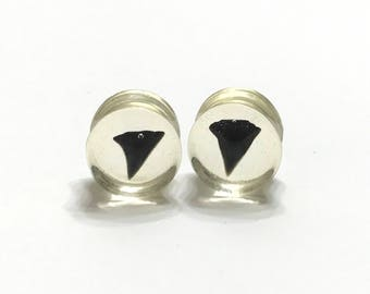 "14mm (9/16"") Shark Tooth Plugs - Gauges - Plugs - Stretched Ears - Double Flared Plugs"