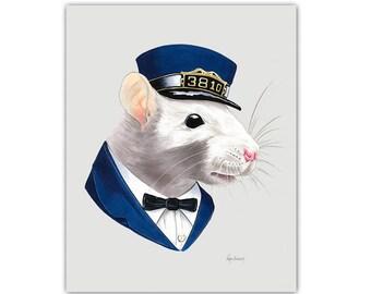 Rat print 8x10