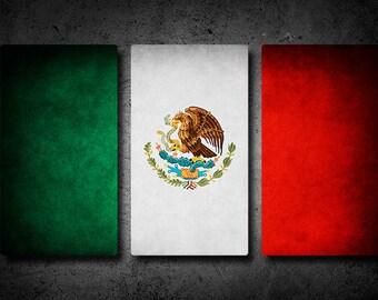 Mexico Flag Triptych