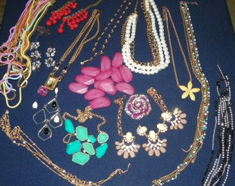 Steampunk, Upcycle Bulk Broken Jewelry, Chains, Beads, Necklaces, Earrings, Dangle, Remake into New Items