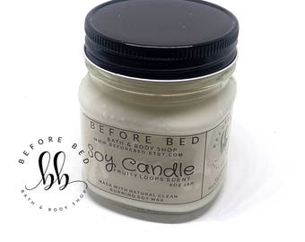 Fruity Loops Scented 8oz Natural Clean Burning Soy Candles in Mason Jar