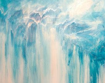 Original abstract painting - Hidden Falls