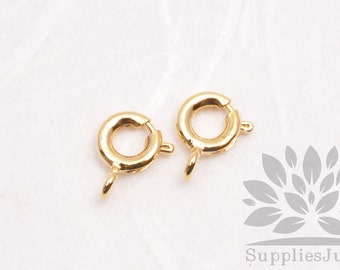B013-01-G// Gold Plated 9mm Spring Clasp Only, 10pc