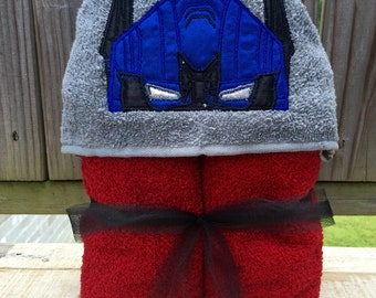 Transformers inspired Hooded Towel - Robot Hooded Towel-  Beach Towel -  Pool Party