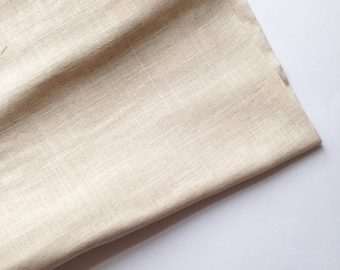 cotton double gauze fabric. soft japanese pure cotton fabric. 102cm (40in) wide. sold by 50cm (19in) long / half yard. cream / natural